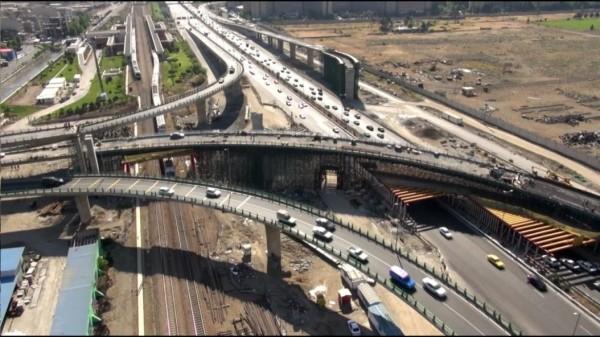 پل های تقاطع بزرگراه باکری - اتوبان کرج